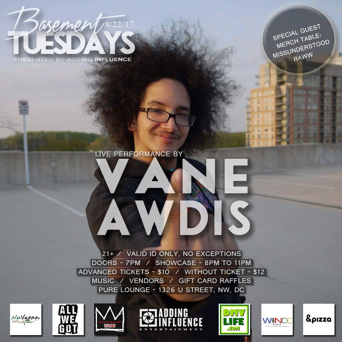 Vane Awdis Pure Lounge Flyer